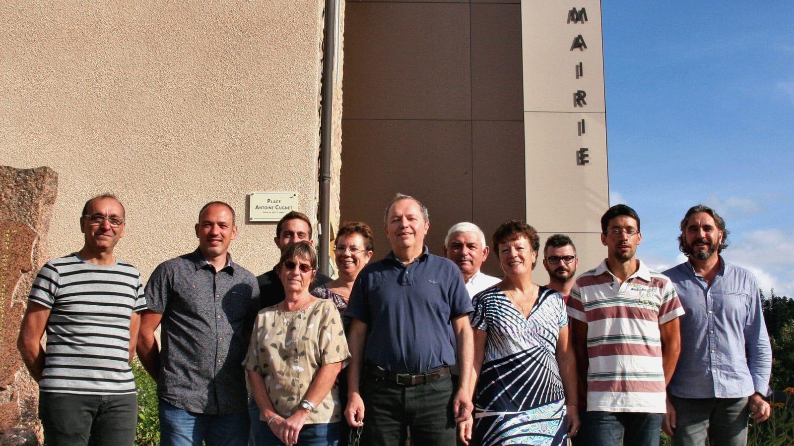 les 11 élus du Conseil Municipale de RANCHAL